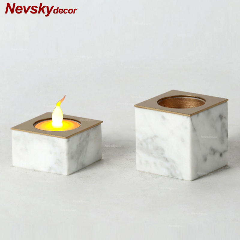 Modern Style marble Candle Holders stand Romantic Candlelight Dinner Candlestick Light Home For Decoration Toilet bathroomModern Style marble Candle Holders stand Romantic Candlelight Dinner Candlestick Light Home For Decoration Toilet bathroom