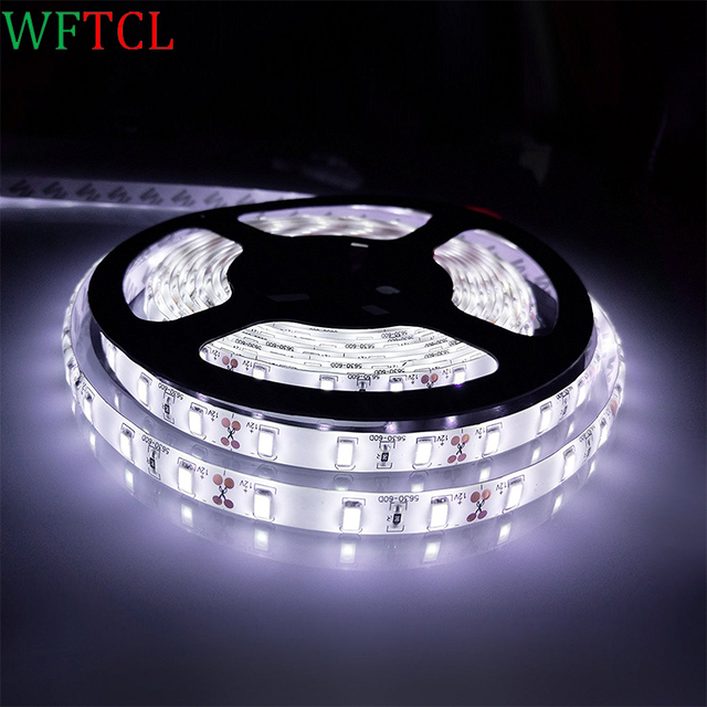 Wftcl super bright 5m 5630 smd led strip flexible light dc12v wftcl super bright 5m 5630 smd led strip flexible light dc12v waterproof 60ledm outdoor workwithnaturefo