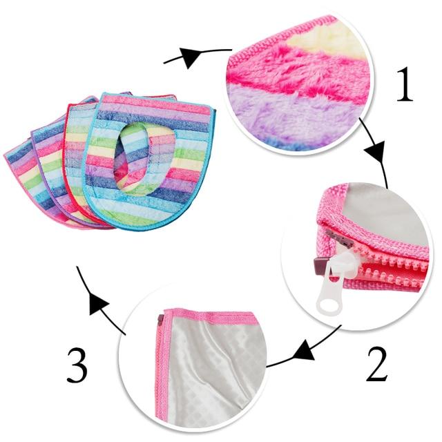 1 Pz Arcobaleno di Corallo del panno morbido Sedile del Water Copertura Confortevole Tappetini Da Bagno Toilet Seat Lifters Accessori Da Bagno Set