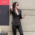 Women Leather Motorcycle Zipper collar Punk Coat Biker Jacket Outwear Fashion Newest Casaco de couro feminino Abrigo de cuero