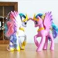 14 CM mi rainbow horse decoración juguetes Figuras de PVC poni Niños Muñeca modelo colorido regalo de la muchacha