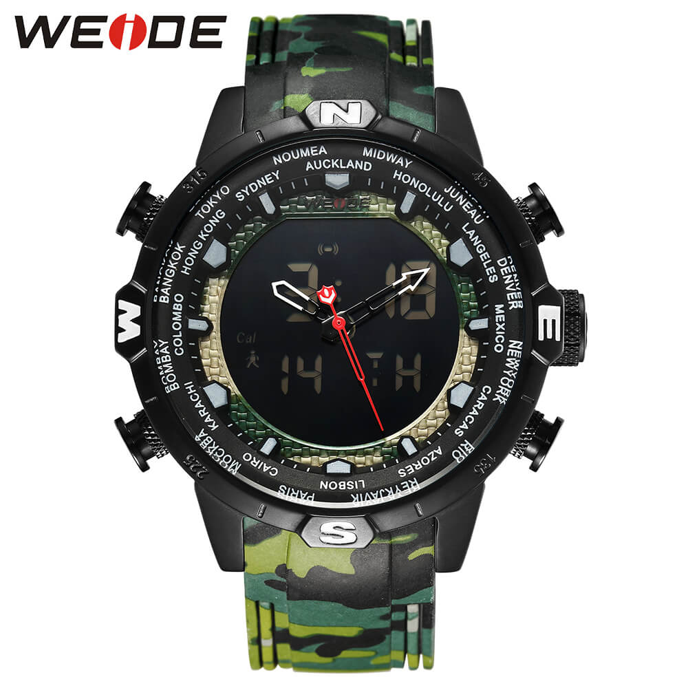 WEIDE Genuine LCD digital men watch sport luxury brand electronic clock fitness bracelet Water Resistant military Camouflage drop shipping gift boys girls students time clock electronic digital lcd wrist sport watch july12