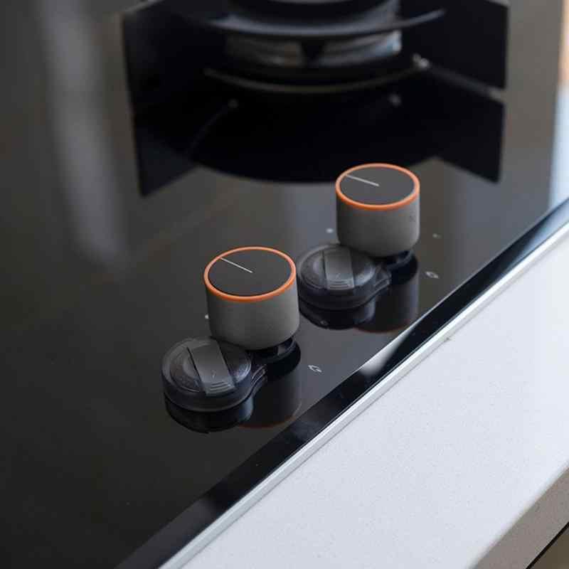 2 chiếc Trong Suốt An Toàn Bếp Và Lò Nướng Núm Bao Bếp Bếp Gas Âm Núm Có Ổ Khóa Bảo Vệ An Toàn Cho Bé Ốp Lưng Con prection