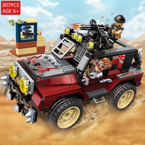 307Pcs Building Blocks ARMY Peacekeeping Force Thunder Mission Armed Jeep Compatible LegoINGLs Bricks Educational Toys For Boy