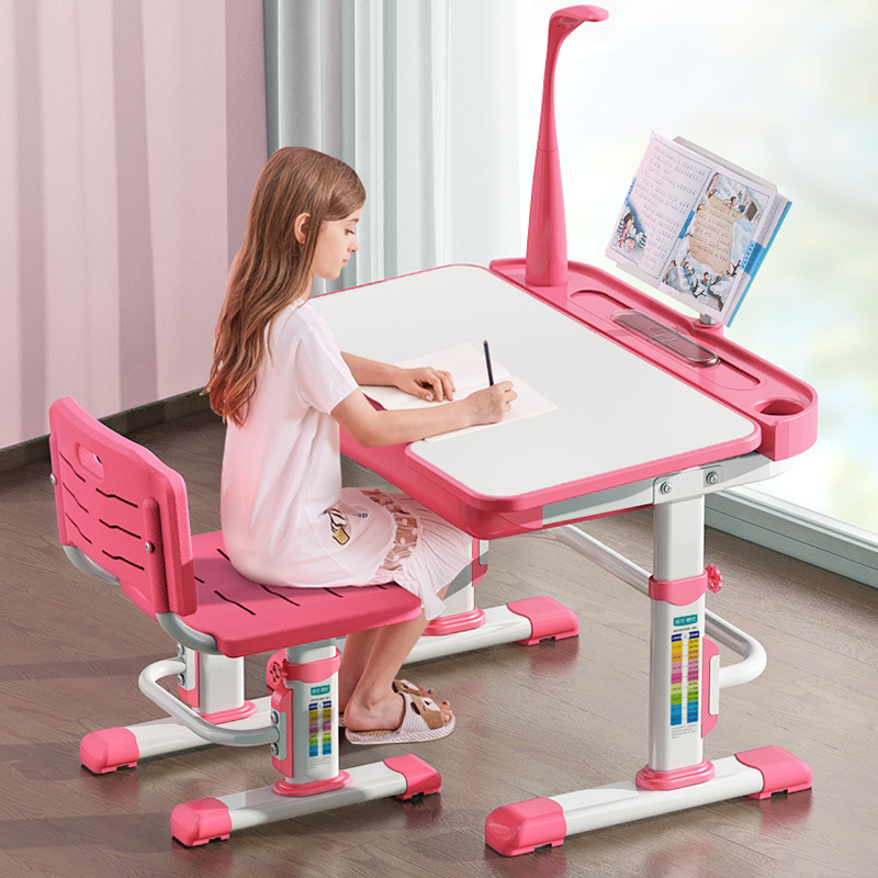 Multifunction Kids Study Chair and Table Set Lifted Writing Desk Protect Eyes Adjustable Table Correct Sitting Posture Chair Проектор