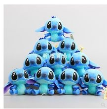 Free shipping 10 pcs/Lot Lilo Stitch stuffed Plush Keychain Solf the toy for children birthday gift(China)