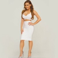 Free Shipping Summer Dresses For Womens 2 Piece Set 2014 Sext Cut Out Two Piece Outfits