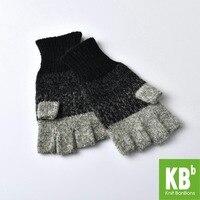 SALE KBB Christmas Seasonal Women Men Comfy Gray Designer Lambswool Wool Knit Pom Pom Winter Fingerless
