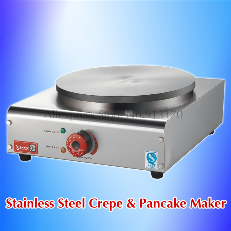 Commercial Crepe Maker Stainless Steel Pancake Maker Electric Griddle Machine Makes Masala Dosa Non Stick Plate new crepe maker superior stainless steel electric pancake crepe machine masala dosa maker nonstick cook