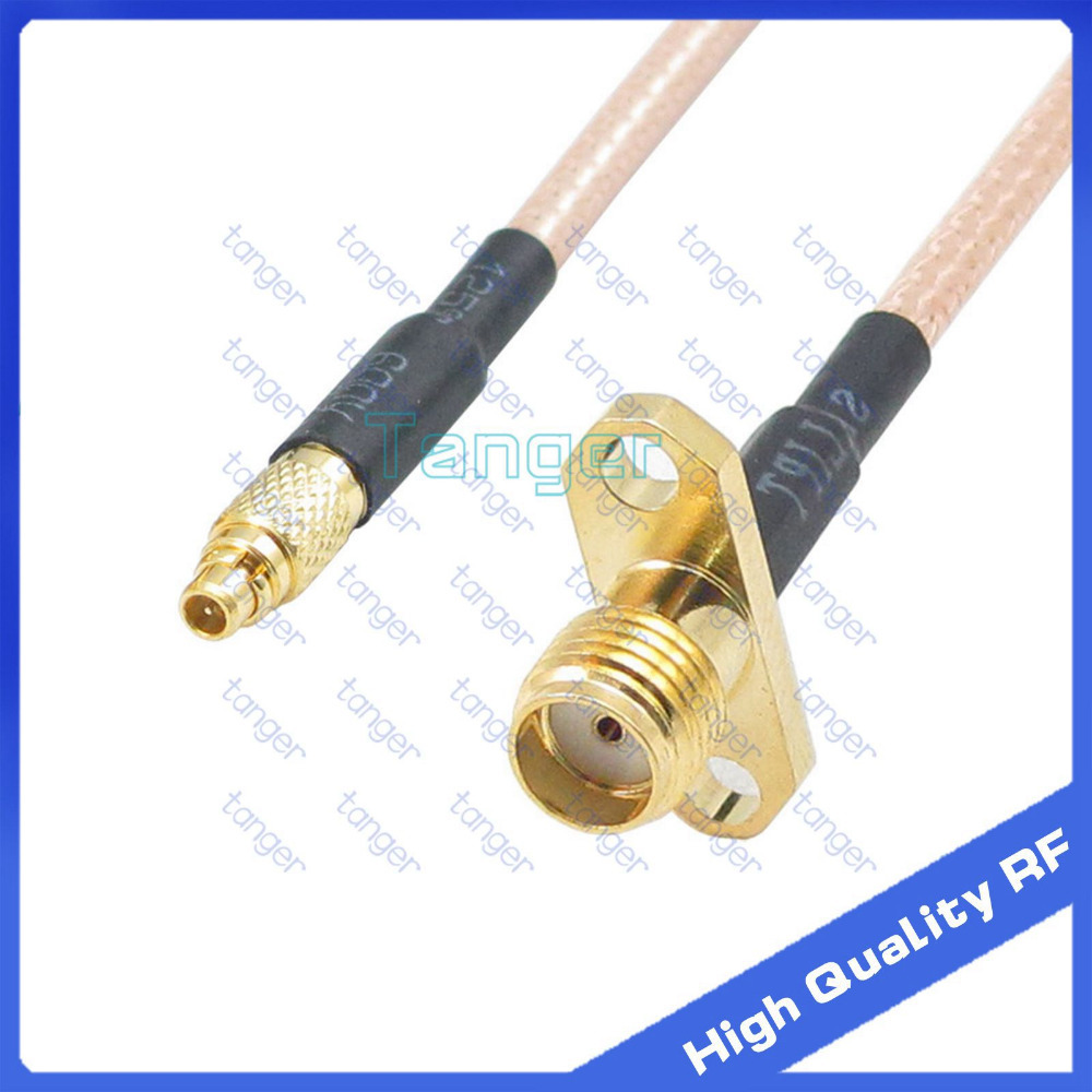 RF parts Male MMCX to SMA female jack 2 hole panel connector with 20cm 8in RG316 RG-316 RF Coaxial Pigtail Jumper Low Loss cable lson female to female breadboard jumper dupont cable white black red blue yellow 28 pcs