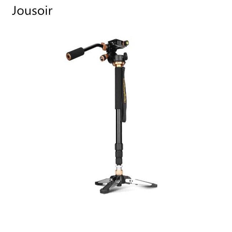 Portable professionnel DSLR Q168S monopode trépied et monopode Base de support avec tête pour caméra photographie CD50