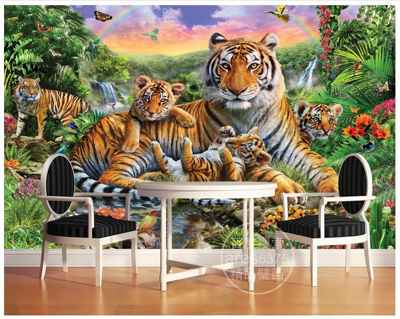 Popular tropical rainforest animals buy cheap tropical for Animal mural wallpaper