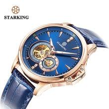 STARKING Retro Azul Mens Relojes de Lujo Superior de la Marca de Moda Masculina del Reloj de Zafiro Reloj Mecánico Automático Relogio masculino