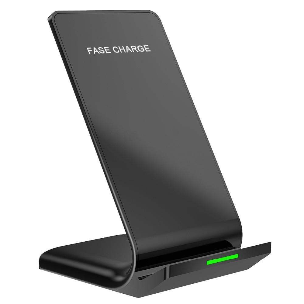 צ 'י אלחוטי מטען עבור iPhone X 8 8 בתוספת 10 w מהיר אלחוטי טעינת Dock Stand עבור Samsung הערה 8 s9 S8 בתוספת S7 S6 קצה הערה 5