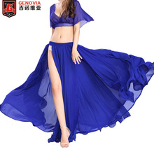 Sexy Belly Dance Costume Chiffon Skirt Professional Waves Dress 11 colors