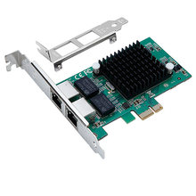 DIEWU New Pci express gigabit Ethernet network card pice gigabit Dual  RJ45 network card Diskless boot intel82575EB chipest
