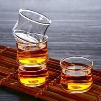 40ml 6 Glassware Glass Cup Set Borosilicate Glass Kung Fu Tea Set Coffee Set