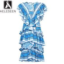 שמלות AELESEEN Mdi ראפלס