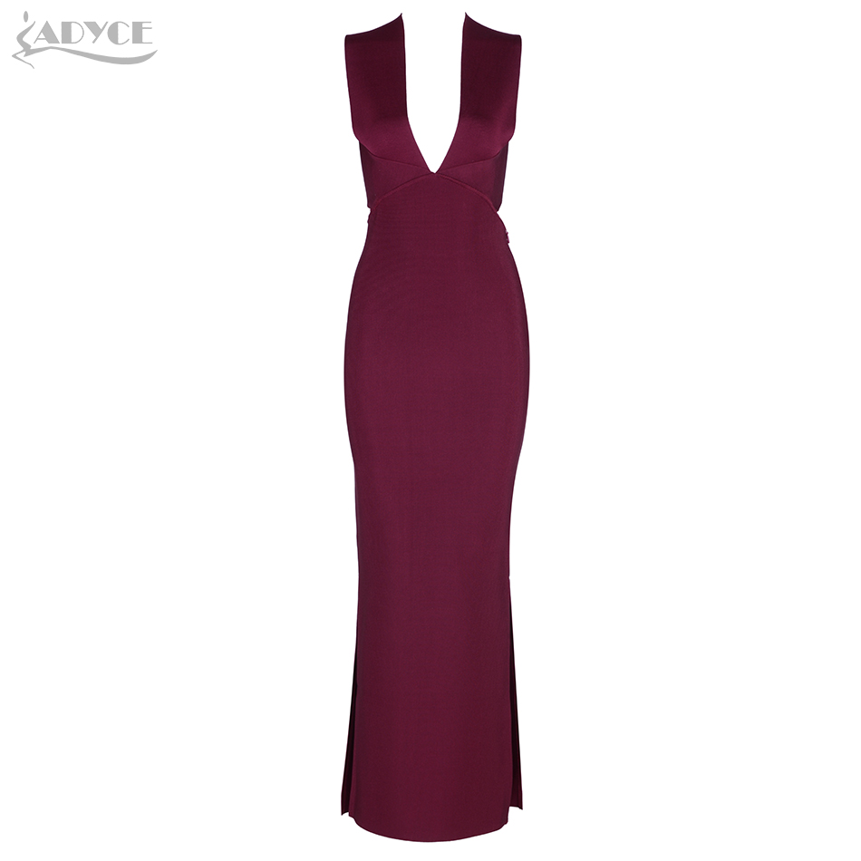 Adyce 2019 Chic Elegant Women Bandage Dresses Sexy Sleeveless Long Dress Vestidos Celebrity Party Dress Woman Maxi Dresseses