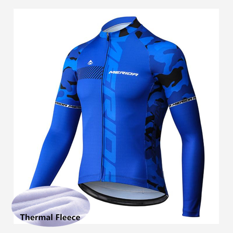 MERIDA New 2018 Men Cycling Jersey Shirt Winter Thermal Fleece Long Sleeves Racing Maillot Ropa Ciclismo MTB Bike Clothing G0702 winter thermal fleece bora argon 18 long sleeves cycling jersey 2018 men bike clothing bicycle suits cycling kit ropa ciclismo