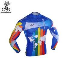 Summer Full Jerseys Men Autumn Blue shirt Quick Dry Spring Blue CX Long sleeve cycling jerseys