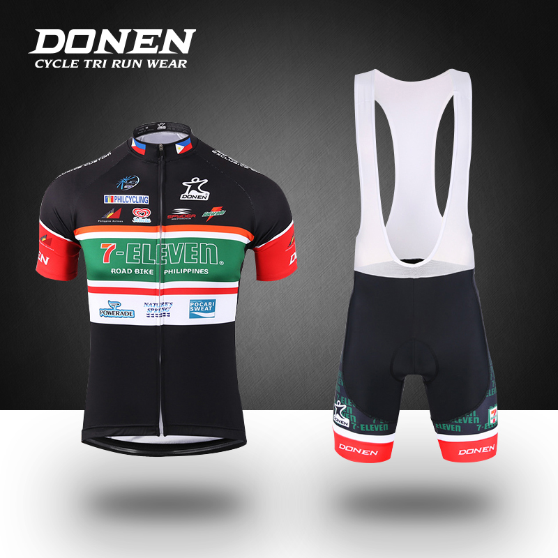 DONEN 2018 Summer Short sleeves Cycling Set Cycling jersey+bib shorts Man Jerset Sets MTB Bike Bicycle ciclismo Factory Direct free designs diy custom cycling jersey short sleeve and tight bib shorts combo cycling sets bike clothing for man women child