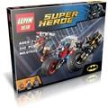 Lepin 07032 super hero figuras poderoso micros deadshot harley reina batman con motocicleta bloques juguetes compatibles
