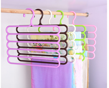 Zeegle Thicking S-shape 5 Layers Pants Hangers Holders Wardrobe Storage Rack For Scarf Towels Clothes Jeans Closet Space Saver