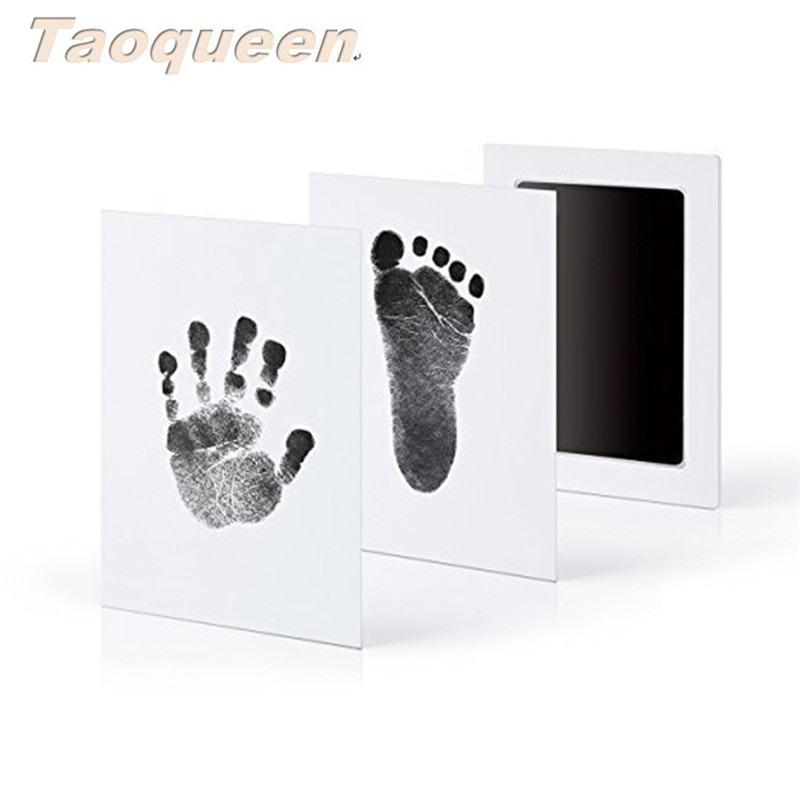 Aoqueen Clean-Touch Ink Pad Hand & Footprint Makers Baby Souvenirs Baby Handprint Footprint Photo Frame Kit With Hand Maker