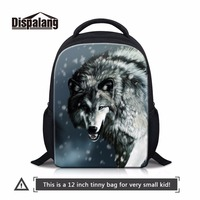 Dispalang Animal Zoo Nursery Baby Wolf Shoulders Bag Mini Bookbag For Little Boy Casual Satchel For