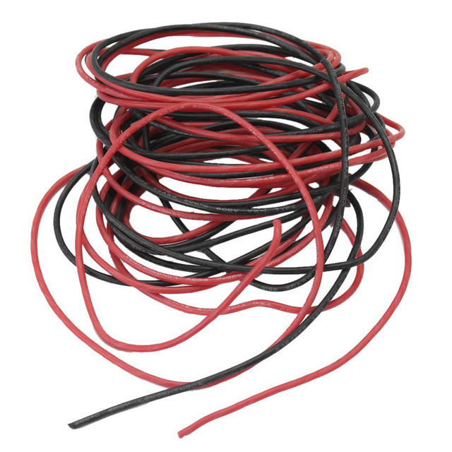 ALLiSHOP 18# AWG Electrical Wires 18 Gauge AWG Silicone Rubber ...