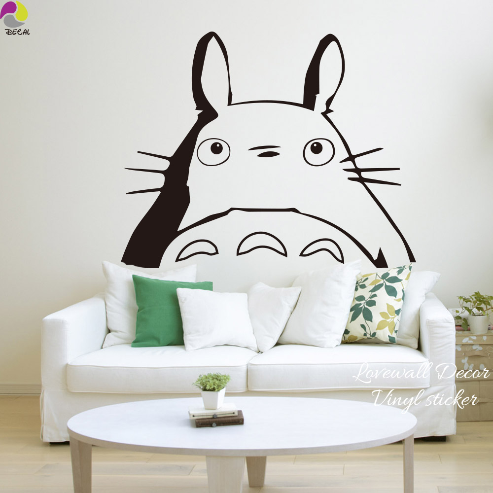 Cartoon Totoro Wall Sticker Bedroom Kids Room Sofa Janpan Anime Cat Animal Wall  Decal Baby Nursery Wall Decal Vinyl Decor Art  In Wall Stickers From Home  ...