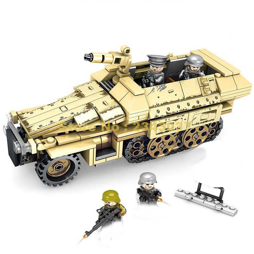 hot LegoINGlys military WW2 German Armored tank Sd. kfz.251 Lightning war MOC Building Blocks mini army figures bricks toys gift