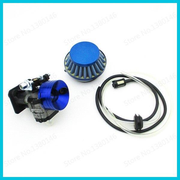 Carburetor Air Filter Stack For 33 43 49 50 52cc Gas Scooter Cat Eye Pocket Bike