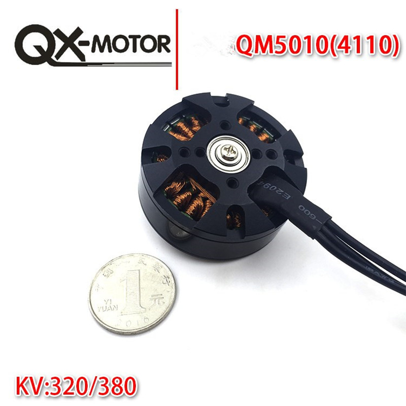 1Pcs QX-MOTOR 6S <font><b>5010</b></font> 320KV 380KV 600KV <font><b>Brushless</b></font> Motor Multi-rotor Disc 52H Magneet NMB High-speed for RC Quadcopter Drone Part image