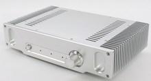 لتقوم بها بنفسك أمبير حالة 335*75*207 مللي متر WA55 الفضة كامل الألومنيوم مكبر للصوت الهيكل/الفئة أ مكبر للصوت حالة/أمبير الضميمة/حافظة/لتقوم بها بنفسك صندوق