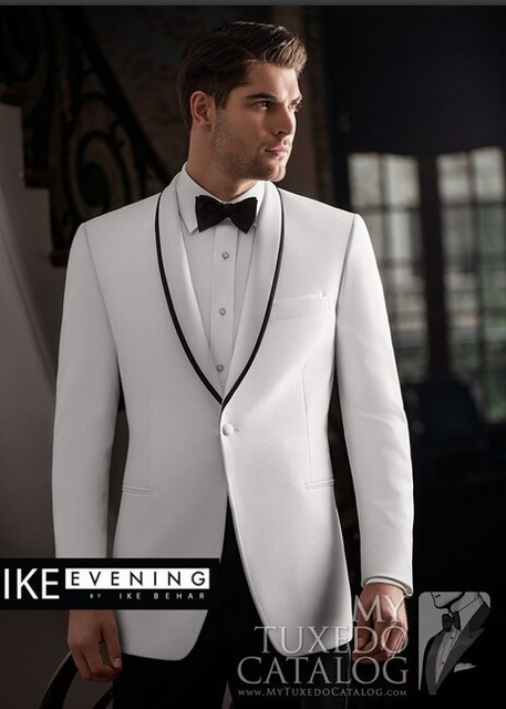 Latest Design Mens Suits Groom Tuxedos Groomsmen Wedding Party Dinner Best Man Suits Bla ...