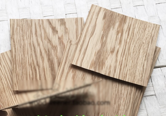 5pcs/lot. 16x16cm Thickness:1.2mm Natural White Oak Pure Wood Chips