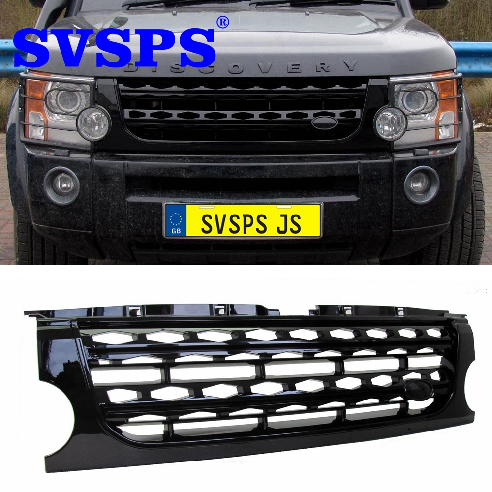 Car styling tuning Front ABS Middle grille grill for Land Rover Discovery 3 upgrade to Discovery 4 style 2005-2009 year Vehicle our discovery island 4 audio cd 3 лцн