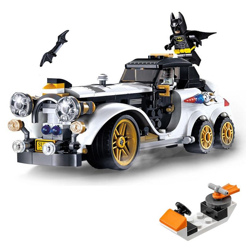 Batman Chasing Aristocratic car Figures Small water boat spare Run away Compatible legoinglys Marvel Super hero Building Blocks