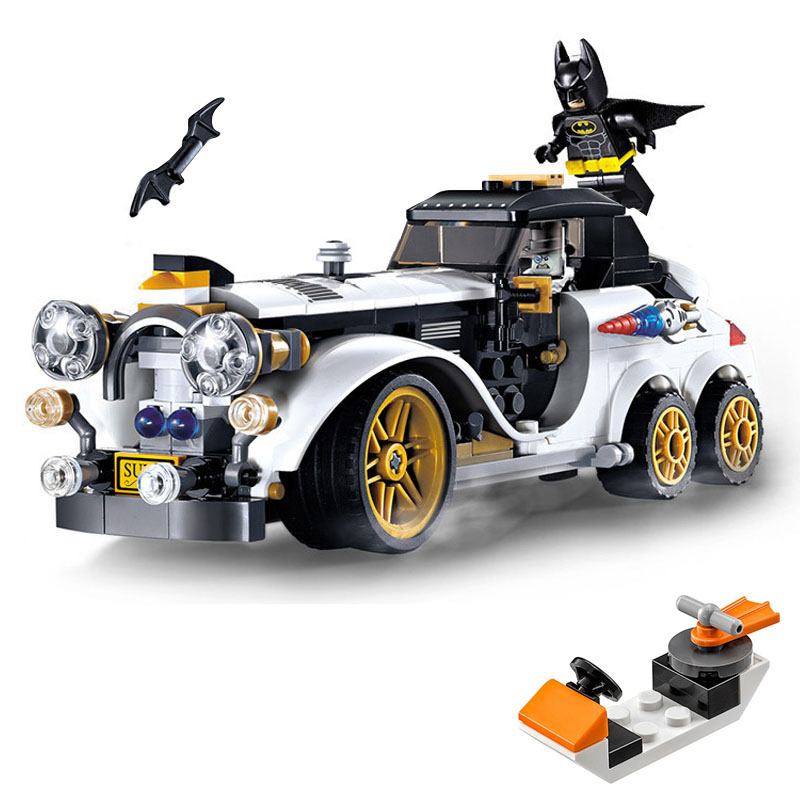 Batman Chasing Aristocratic car Figures Small water boat spare Run away Compatible legoinglys Marvel Super hero  Building Blocks