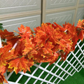 1 Cordas 2.4 m Guirlanda de Hera Artificial Folhas de Bordo Vermelho de Plástico Falso Casa Decoração Do Jardim