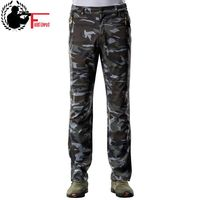 Military Style Winter Men Pants Casual Thick Warm Elastic Waist Camouflage Cargo Men Inside Fleece Army Trouser Male Camo Jogger