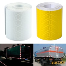 1Pc Colorful Silver White Reflective Safety Warning Conspicuity Tape Film Sticker