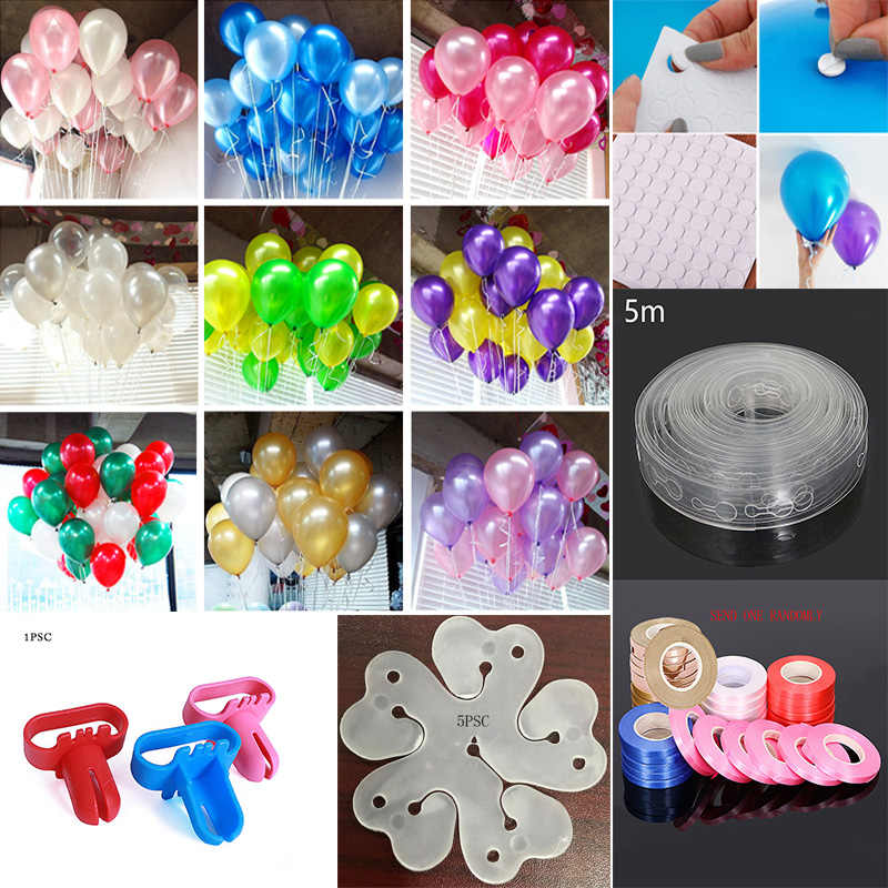 5M/lot Ballons Accessories Balloon Chain 10inch 2.2g Latex Helium balloon Party birthday kid child toy wedding ballons globos