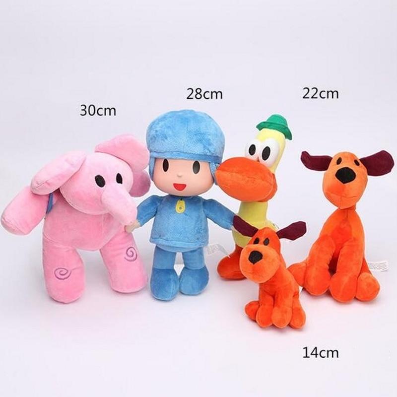 New 14cm Pocoyo Loula Dog Plush Stuffed animal Figure Toy Doll Kids Gift