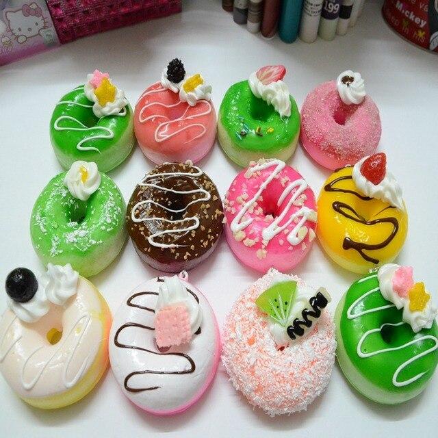 nep taart 12 stks/partij 9 cm Donut Simulatie Voedsel Model Kunstmatige Nep  nep taart