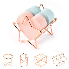 LNRRABC High Quality Makeup Puff Rack Drying Hanger Beauty Makeup Powder Puff Blender Storage Rack Sponge Drying Stand Holder(China)