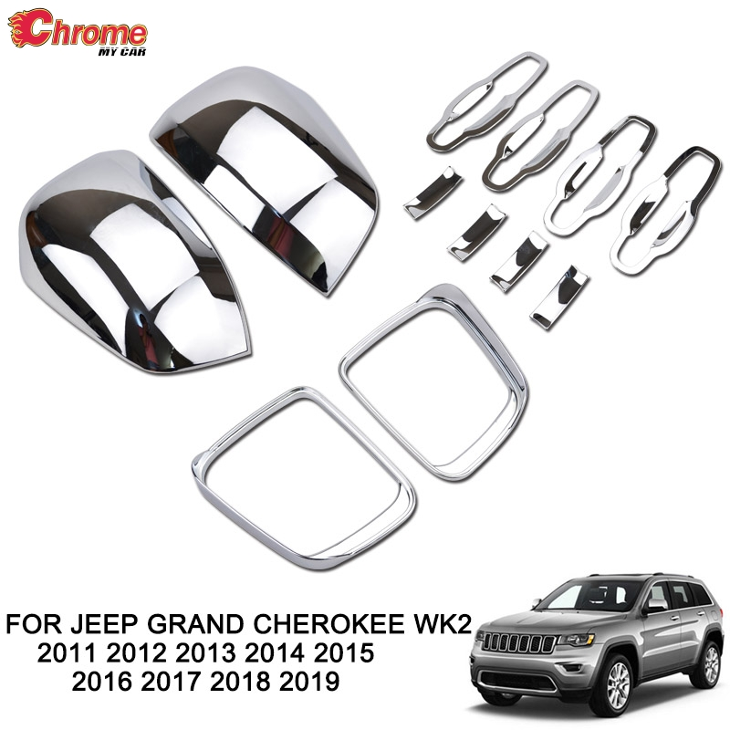 STAINLESS STEEL CHROME PILLARS FOR JEEP GRAND CHEROKEE 2011-2018  8PCS 4 DR