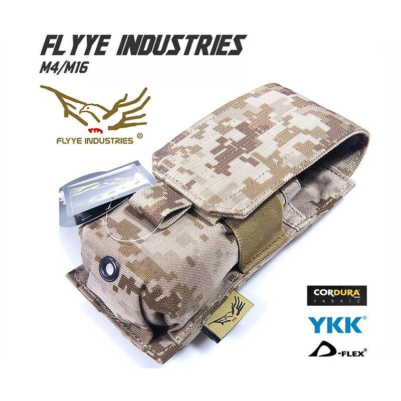 FLYYE MOLLE Single M4/M16 Mag Pouch Military camping modular combat CORDURA M001 flyye molle drop leg accessories pouch military camping modular combat cordura pk e005